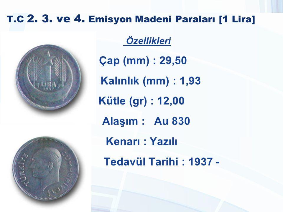 T.C 2. 3. ve 4. Emisyon Madeni Paraları [1 Lira]